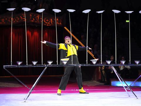 Num ro visuel de jonglage humoristique assiettes - Image jongleur cirque ...