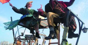 Spectacle de rue déambulatoire, poétique et drolatique