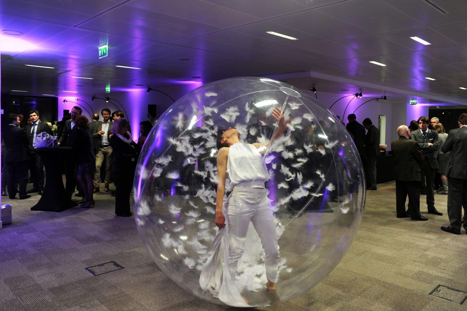 danseuse dans bulle