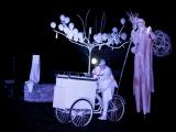 Spectacle de rue lumineux nocturne en fixe pour une fête patronale (01)