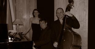 Trio jazz vocal pour un cocktail extérieur sur Paris (75)